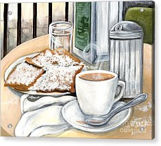 New Orleans Cafe Du Monde Acrylic Print by Elaine Hodges