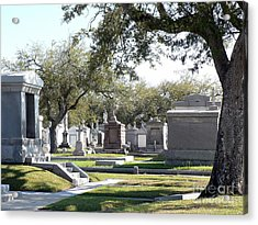 New Orleans Cemetery 2 Acrylic Print by Elizabeth Fontaine-Barr