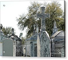 New Orleans Cemetery 4 Acrylic Print by Elizabeth Fontaine-Barr