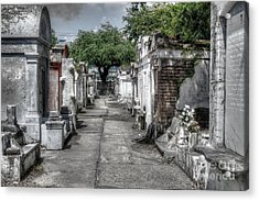 New Orleans Cemetery Acrylic Print by Timothy Lowry