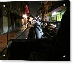 New Orleans - City At Night - 121210 Acrylic Print by DC Photographer