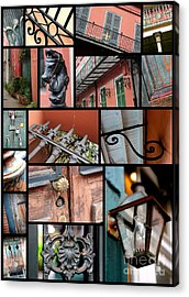 New Orleans Collage 2 Acrylic Print by Carol Groenen