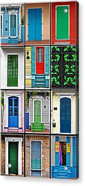 New Orleans Doors Acrylic Print by Christine Till