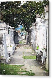 New Orleans French Quarter Cemetary Louisiana Artwork Acrylic Print by Olde Time  Mercantile