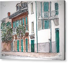 New Orleans Gov. Nichols And Royal St Acrylic Print by Anthony Butera