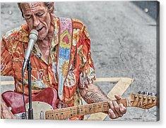 New Orleans Guitar Man Acrylic Print