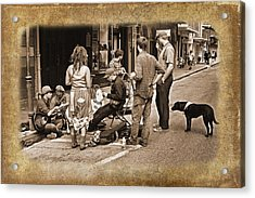 New Orleans Gypsies - Antique Acrylic Print by Judy Vincent