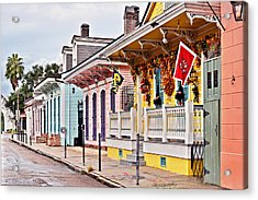 New Orleans Happy Houses Acrylic Print by Christine Till
