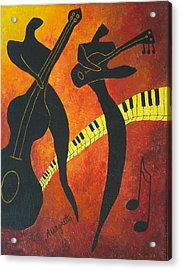 New Orleans Jazz Acrylic Print by Pamela Allegretto