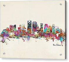 New Orleans Louisiana Skyline Acrylic Print by Bri B