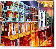 New Orleans Reflections In Red Acrylic Print by Diane Millsap