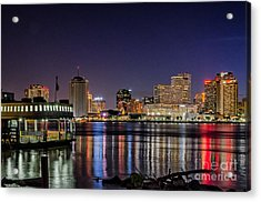 New Orleans Reflects On A Summer Night Acrylic Print