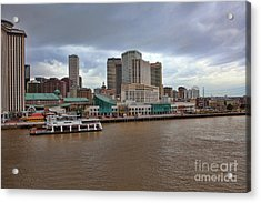 New Orleans Riverfront Acrylic Print by Kay Pickens