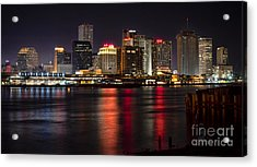 New Orleans Skyline Acrylic Print by Richard Mason
