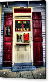 New Orleans Snow Ball Stand Acrylic Print by Louis Maistros