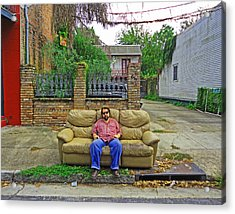 New Orleans Street Couch Acrylic Print