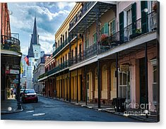 New Orleans Street Acrylic Print by Inge Johnsson