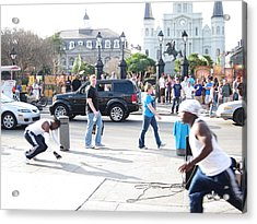 New Orleans - Street Performers - 121213 Acrylic Print