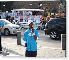 New Orleans - Street Performers - 12128 Acrylic Print by DC Photographer