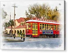 New Orleans Streetcar Paint Acrylic Print by Steve Harrington