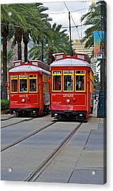 New Orleans Streetcars Acrylic Print by Christine Till