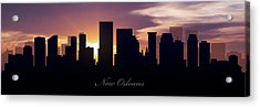 New Orleans Sunset Acrylic Print by Aged Pixel