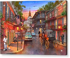 New Orleans Sunset Acrylic Print