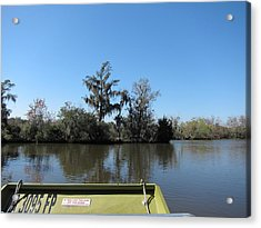New Orleans - Swamp Boat Ride - 121235 Acrylic Print by DC Photographer