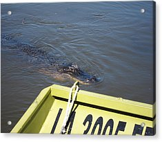 New Orleans - Swamp Boat Ride - 121278 Acrylic Print by DC Photographer