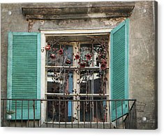 New Orleans Window Acrylic Print by Lorella  Schoales