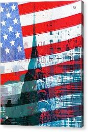 New Paint - New York Chrysler Building I Acrylic Print