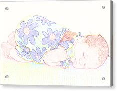 New Photographic Art Print For Sale Baby Girl Acrylic Print