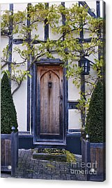New Photographic Art Print For Sale Doorway 2 In Medieval Lavenham Acrylic Print