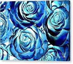 Pop Art Blue Roses Acrylic Print