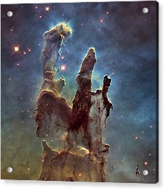 New Pillars Of Creation Hd Square Acrylic Print by Adam Romanowicz
