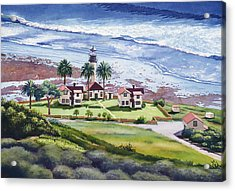 New Point Loma Lighthouse Acrylic Print by Mary Helmreich
