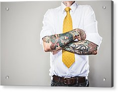 New Professional With Tattoos Acrylic Print by RyanJLane