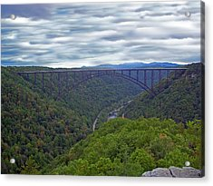 New River Bridge Acrylic Print by Aimee L Maher Photography and Art Visit ALMGallerydotcom