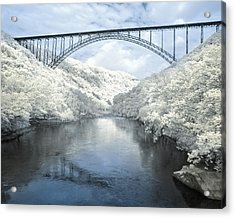 New River Gorge Bridge In Infrared Acrylic Print