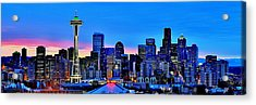 New Seattle Day Acrylic Print by Benjamin Yeager