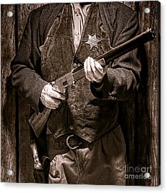 New Sheriff In Town  Acrylic Print by Olivier Le Queinec
