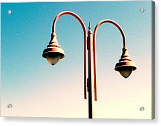 Acrylic Print featuring the digital art Beach Lamp Post by Valerie Reeves