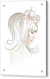 Acrylic Print featuring the drawing New Star by Anna Ewa Miarczynska