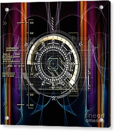 New Time Calculation Acrylic Print by Diuno Ashlee