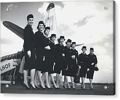 New Uniforms For Bea-stewardesses Acrylic Print by Retro Images Archive