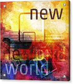 New World Acrylic Print by Lutz Baar