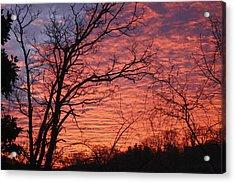 New Year Eve Sunrise Acrylic Print by Teresa Mucha