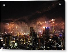 New Year Fireworks Acrylic Print by Ray Warren