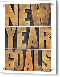 New Year Goals Acrylic Print