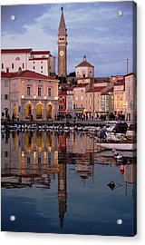 New Years Day Piran Acrylic Print by Graham Hawcroft pixsellpix
